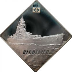 10$ Richelieu Battleship 2 oz Ag 999 2010