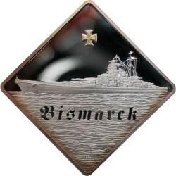 10$ Bismarck Okręt Wojenny 2 oz Ag 999 2009