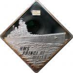 10$ HMS Prince of Wales - Battleship 2 oz  Ag 999 2009
