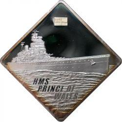 10$ HMS Książę Walii Okręt Wojenny 2 oz  Ag 999 2009