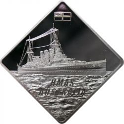 10$ HMS Australia Okręt Wojenny 2 oz Ag 999 2011