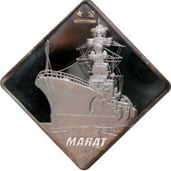 10$ Marat - Okręt Wojenny 2 oz Ag 999 2010