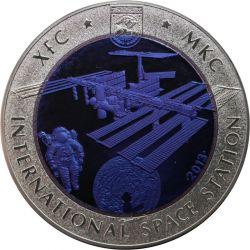 500 Tenge XFC MKC ISS - Space 14,6 g Ag 925 2008