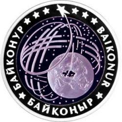500 Tenge Bajkonur - Przestrzeń 14,16 g Ag 925 2012