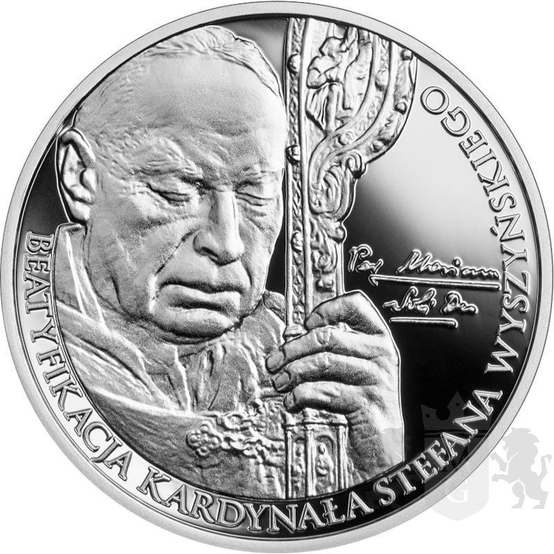10zł Beatification of Cardinal Stefan Wyszyński 14,14 g Ag 925 2021