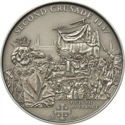 5$ Louis VII France - History of the Crusades 2.