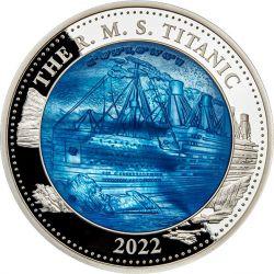 25$ Titanic - Mother of Pearl 5 oz Ag 999 2022 Solomon Island