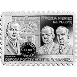 20zł Obrona Poczty Polskiej w Gdańsku. Agresja Niemiec na Polskę 28,28 g Ag 925 2021