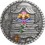 1$ The Princess and the Pea - Fairy Tales 1 oz Ag 999 2021 Niue
