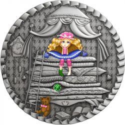 1$ Księżniczka Na Ziarnku Grochu - Bajki 1 oz Ag 999 2021 Niue
