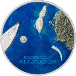 5$ American Alligator 1 oz Ag 999 2022 Palau