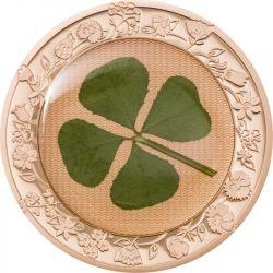 5$ Four Leaf Clover, Ounce of Luck 1 oz Ag 925 Clover 2022 Palau