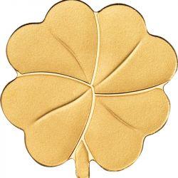 1$ Golden Clover Shape 0,5 g Au 999 2022 Palau