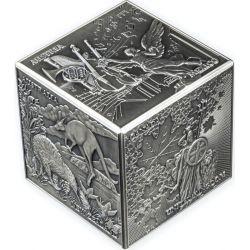 10£ Most Famous Bullion 3D Cube 1 kg Ag 999 2022 Gibraltar