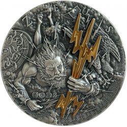 2$ Zeus - Bogowie 2 oz Ag 999 2021