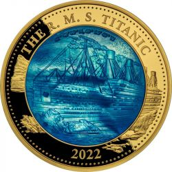 100$ Titanic Macica Perłowa 5 oz Au 999 2022
