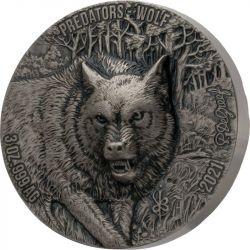 5000 Francs Wolf - Predators 3 oz Ag 999