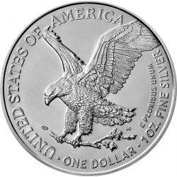 1$ Amerykański Orzeł, typ 2 1 oz Ag 999 2021 USA