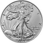 1$ American Eagle, type 2 1 oz Ag 999 2021 USA