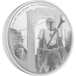 2$ Mandalorian - Star Wars 1 oz Ag 999 2021 Niue