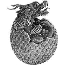 10000 Francs Chinese Dragon Egg 2 oz Ag 999 2022 Tchad