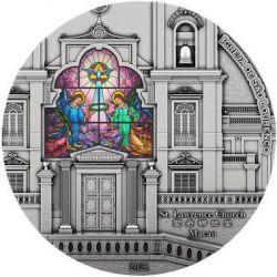 8$ Kościół Św. Wawrzyńca w Makau, Światowe Dziedzictwo 3 oz Ag 999 2021 Wyspy Salomona