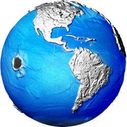5$ Blue Marble Zagrożona Planeta, Meteoryt 3 oz Ag 999 2022