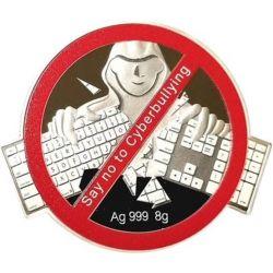 1$ Powiedz NIE Cyberprzemocy 8 g Ag 999 2021 Fidżi