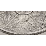 20$ Aztec Five Suns - Ages of Man 3 oz Ag 999 2021 Palau