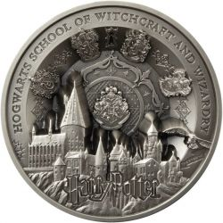 50$ Hogwarts School of Witchcraft and Wizardry - Harry Potter 1 kg Ag 999 2021 Samoa