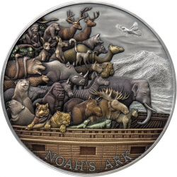 10$ Noah's Ark 5 oz Ag 999 2021 Tokelau