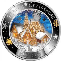 1$ Wesołych Świąt! 1 oz Ag 999 2021 Niue