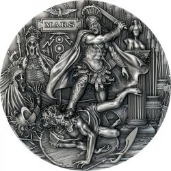 2$ Mars - Bogowie Rzymscy 2 oz Ag 999 Niue 2021