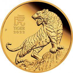 100$ Rok Tygrysa BU 1 oz Au 999 2022 Australia