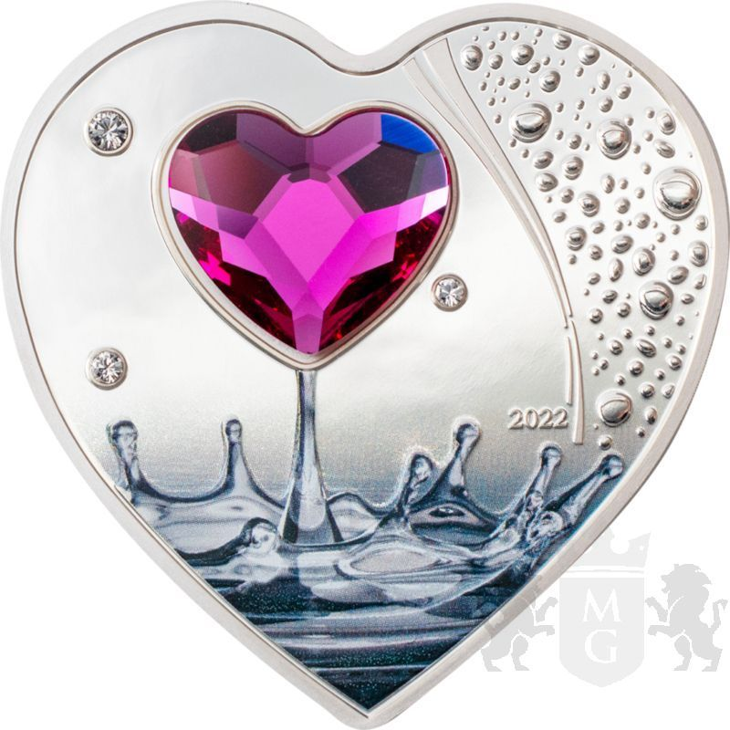 5$ Brilliant Love 2022 20 g Ag 999 Cook Island