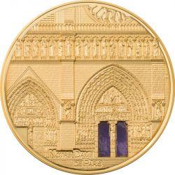100$ Notre Dame Paryż - Tiffany Art Metropolis 5 oz Au 999 2021 Palau