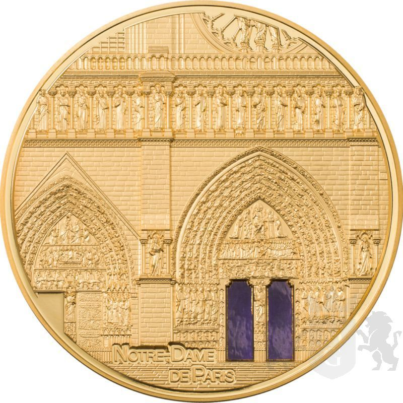 100$ Notre-Dame de Paris - Tiffany Art Metropolis 5 oz Au 999 2021 Palau