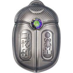 5$ Król Tutanchamon - Skarabeusze 1 oz Ag 999 2021 Palau