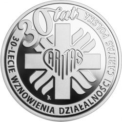 10zł 30-lecie wznowienia działalności Caritas Polska 2021