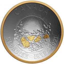 25$ Płukanie Złota 125 rocznica Gorączki Złota Klondike 1 oz Ag 999 2021 Kanadav