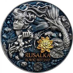 5$ Rusałka - Bestie Słowiańskie 3 oz Ag 999 2021 Kamerun