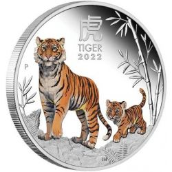 1$ Year of the Tiger Proof 1 oz Ag 999 2022