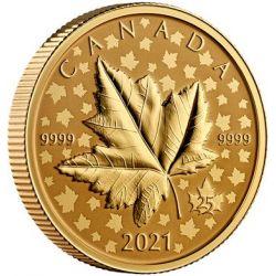 200$ Liść Klonowy Celebration Piedfort 1 oz Au 999 Kanada 2021