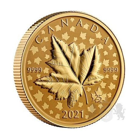 200$ Maple Leaf Celebration Piedfort 1 oz Au 999 Canada 2021
