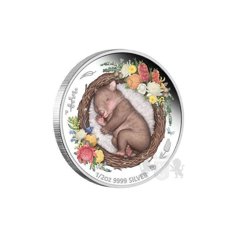 50¢ Wombat - Dreaming Down Under 1/2 oz Ag 999 2021 Australia