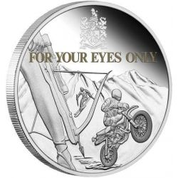 1$ For Your Eyes Only, James Bond 1 oz Ag 999 2021 Tuvalu