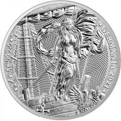 10 Mark Germania BU 2 oz Ag 999 2021