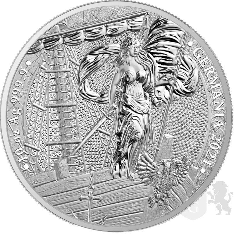 50 Mark Germania BU 10 oz Ag 999 2021