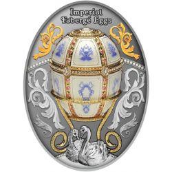 1$ Jajo Faberge Dwanaście Paneli 16,81 g Ag 999 2021 Niue