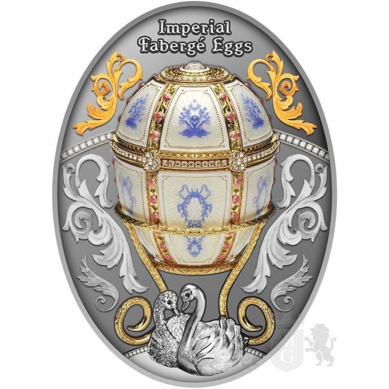 1$ Twelve Panel Egg - Faberge 16,81 g Ag 999 2021 Niue